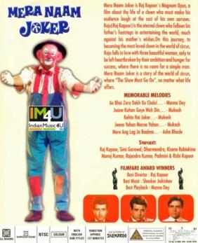Mera Naam Joker DVD / BLU-RAY - Raj Kapoor