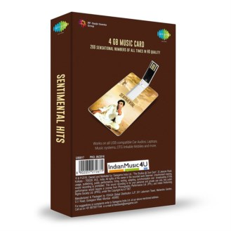 Music Card: Sentimental Hits (320 Kbps MP3 Audio) USB