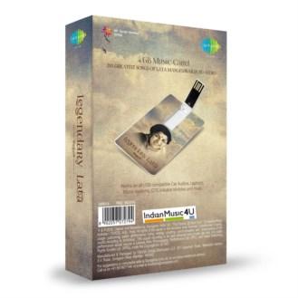 Music Card: Legendary Lata (320 Kbps MP3 Audio) USB