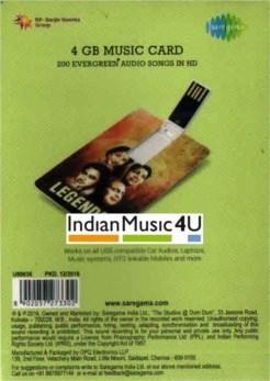 Music Card: Legends (320 Kbps MP3 Audio) USB