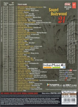 Sound of Bollywood 21 CD / MP3