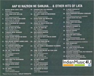 Aap Ki Nazron Ne Samjha MP3 - Lata Mangeshkar