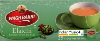 Wagh Bakri ELAICHI (CARDAMOM) Natural Flavour 50 Tea Bags