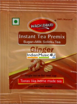 Wagh Bakri GINGER Instant Tea Premix 10 Sweetened Sachets
