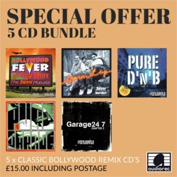 5 Pack: Classic Bollywood Remix CDs - Bundle 2